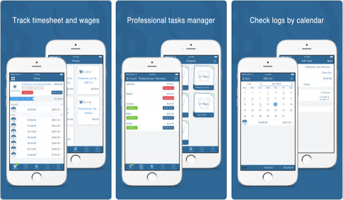 Worktime Tracker iPhone and iPad App Screenshot