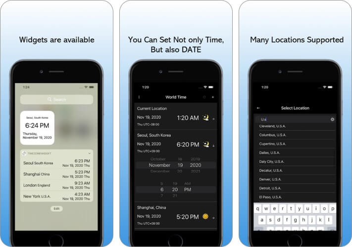 World Clock time zone converter apps for iphone ipad
