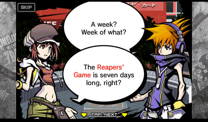 World Ends with You - Solo Remix Nintendo DS iPhone and iPad Game Screenshot