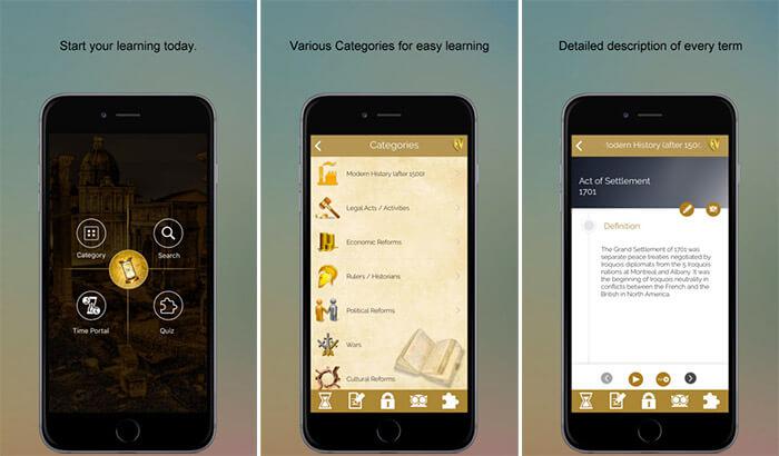 World History SMART Dictionary iPhone and iPad App Screenshot