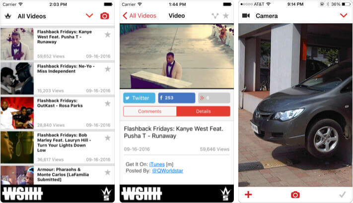 Worldstar Hip Hop iOS App Screenshot
