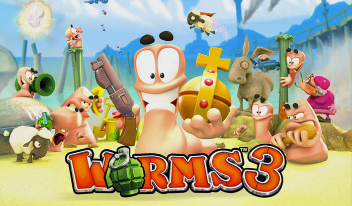Worms3 Strategy iPhone and iPad Game Screenshot