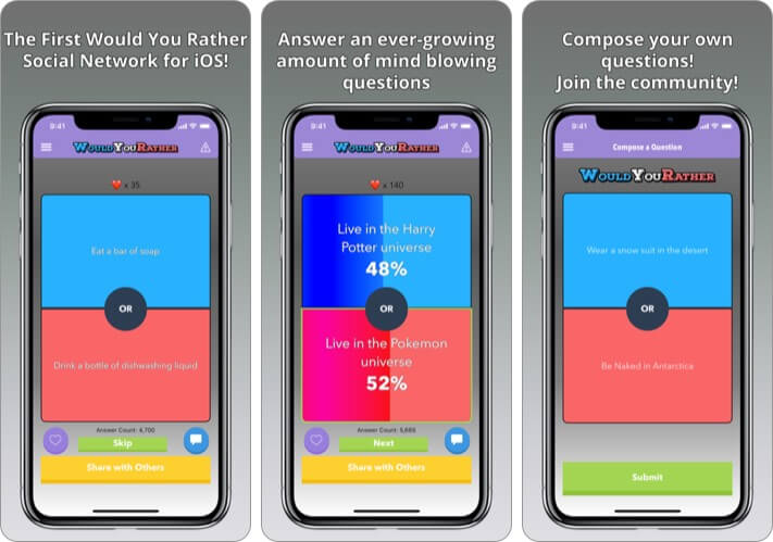 Would You Rather iPhone and iPad App Screenshot