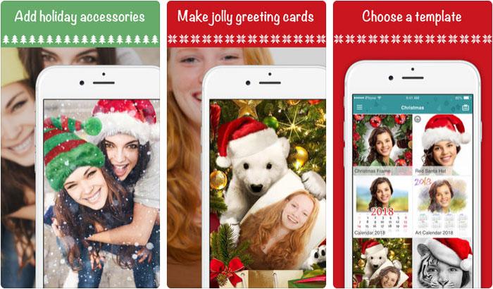 Xmas photo editor iPhone and iPad App Screenshot