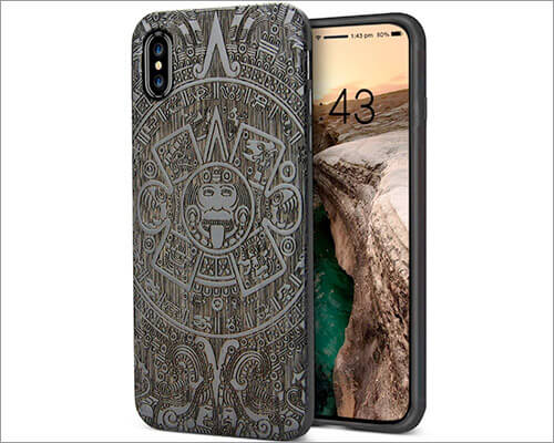 YFWOOD Wooden Case for iPhone X