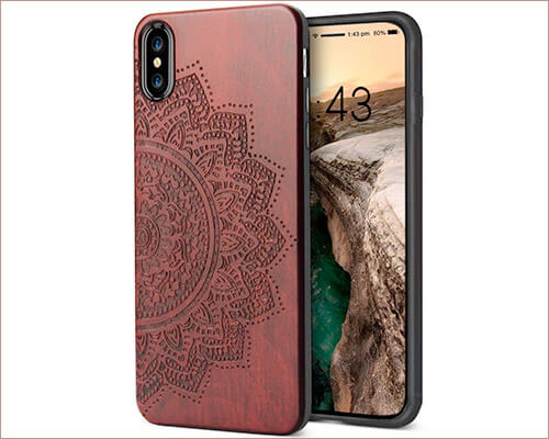 YFWOOD Wooden Case for iPhone Xs Max