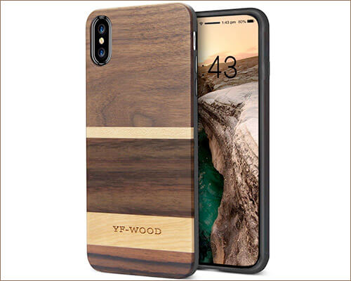 YFWOOD Wooden Case for iPhone Xs