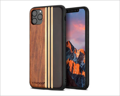 YFWOOD iPhone 11 Pro Natural Wooden Case
