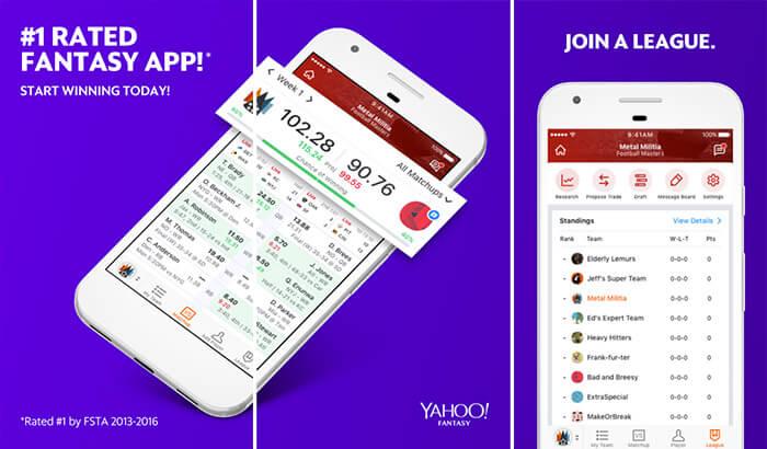 Yahoo Fantasy Football iPhone and iPad App Screenshot