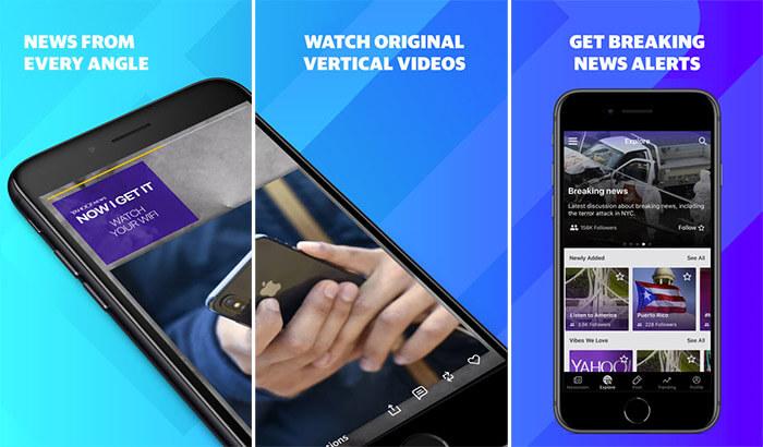 Yahoo News iPhone and iPad App Screenshot