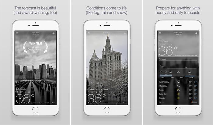 Yahoo Weather iPhone and iPad App Screenshot