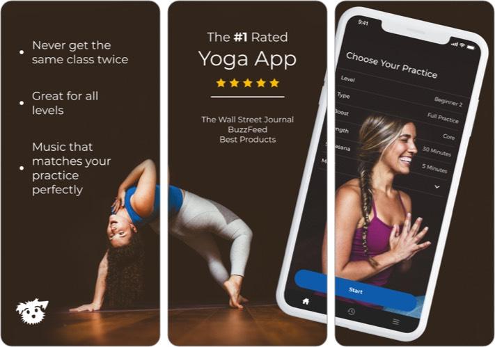 Yoga Down Dog iOS App Screenshot