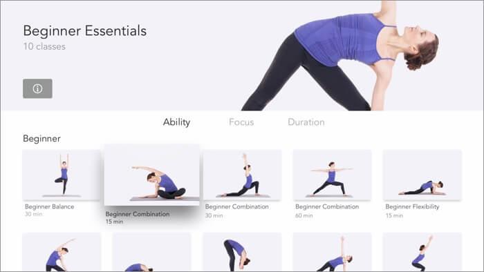 Yoga Studio Apple TV App Screenshot
