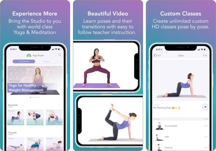 Yoga Studio iPhone and iPad App Screenshot