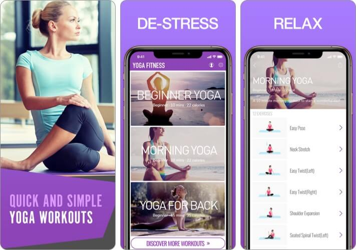 Yoga for Beginners iPhone and iPad App Screenshot