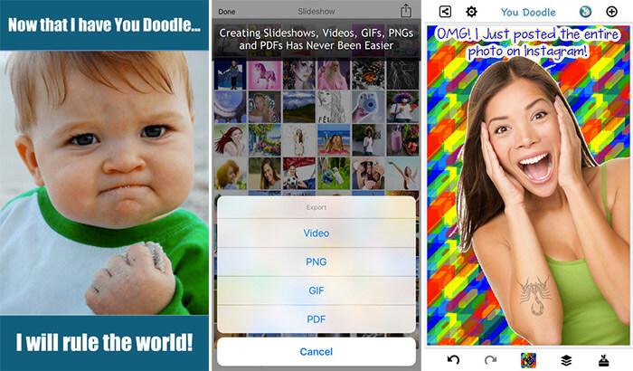 You Doodle iPhone and iPad App Screenshot