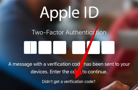 You need to select Didn't get a Verification code