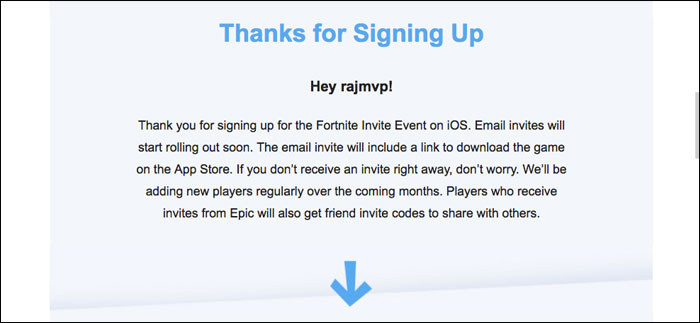 You will receive an email from Epic games