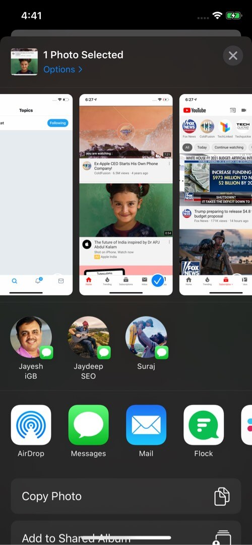 You won't see AirDrop contact in Share Sheet on iPhone