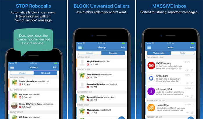 YouMail Voicemail iPhone App Screenshot