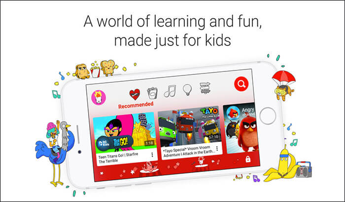 YouTube Kids iPhone and iPad App Screenshot