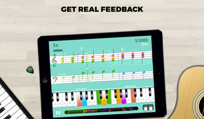 Yousician Guitar, Piano and Bass Learning iPhone and iPad App Screenshot