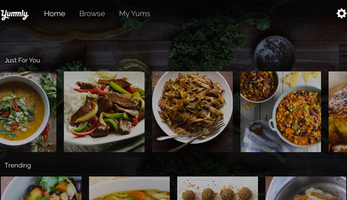 Yummly Recipes Apple TV Cooking App Screenshot