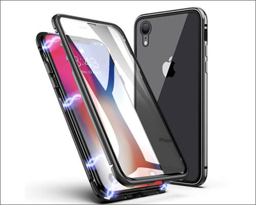 ZHIKE Magnetic Metal Frame Case for iPhone XR