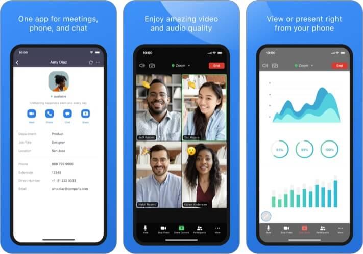 ZOOM Cloud Meeting best iPhone business meeting app screenshot