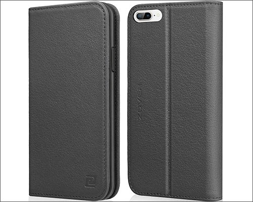 ZOVER Genuine Leather iPhone 8 Plus Wallet Case