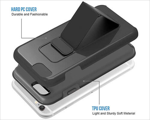 ZVEdeng Kickstand Case for iPhone 6s Plus