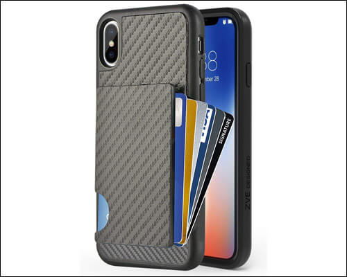 ZVEdeng iPhone Xs Max Card Holder Wallet Case