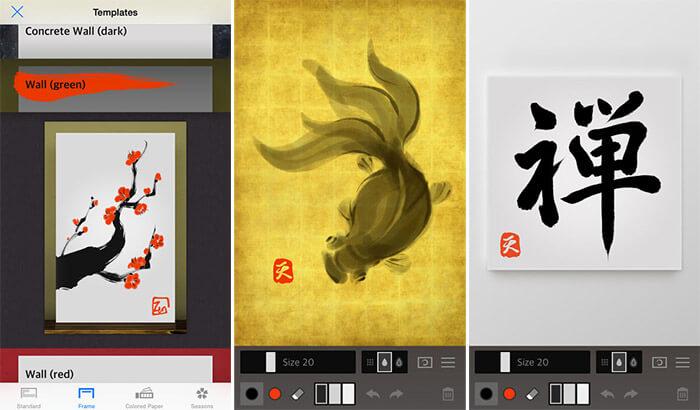 Zen Brush 2 iPad Pro App Screenshot