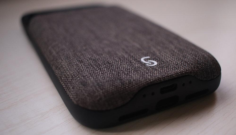 Zencase iPhone 11 Pro Max Battery Case with Linen Back