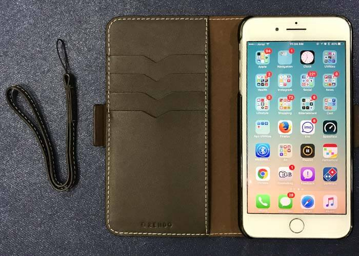 Zendo Leather Wallet Case for iPhone 7 Plus