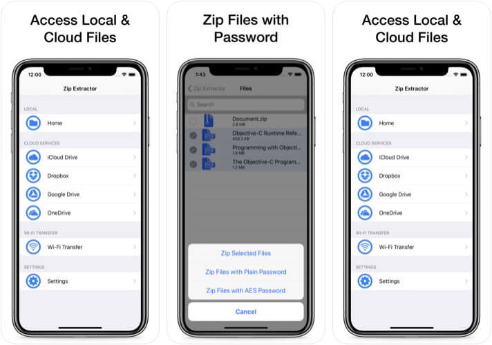 Zip & RAR File Extractor iPhone and iPad App Screenshot
