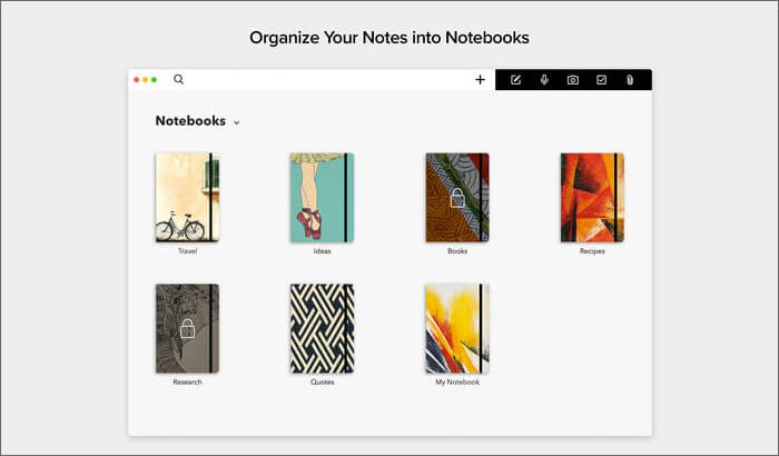 Блокнот Zoho для Mac. Снимок экрана приложения.