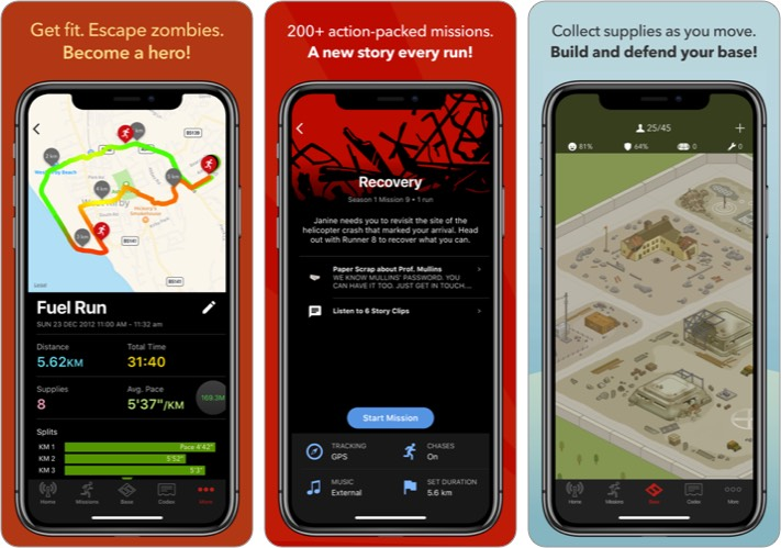 Zombies Run iOS Workout App Screenshot