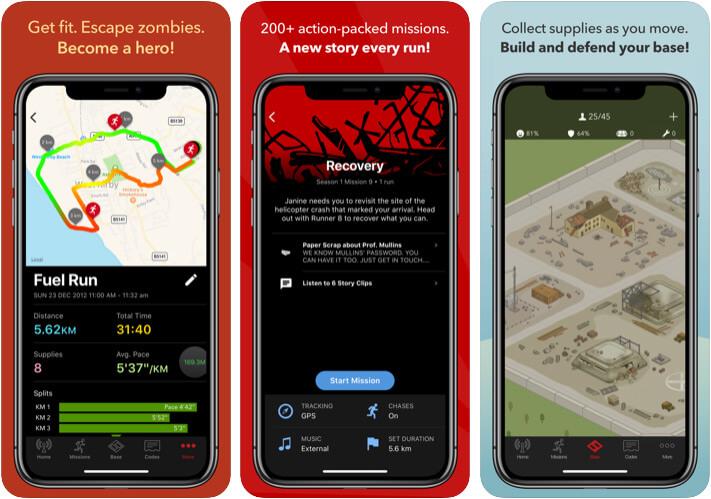Zombies Run iPhone and iPad Game Screenshot