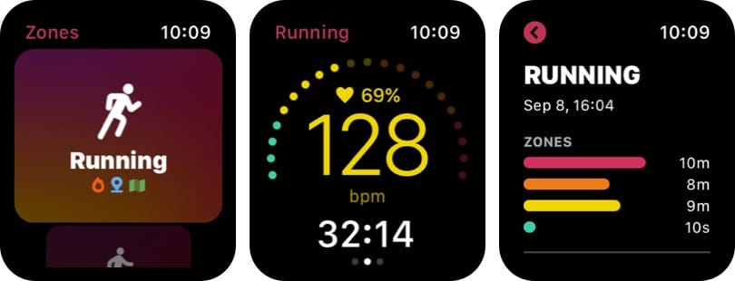 Zones for Training Heart Rate Monitor Apple Watch App Screenshot