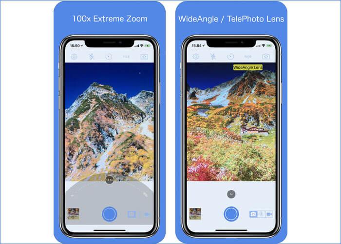 Zoom 100x Camera iPhone and iPad App Screenshot