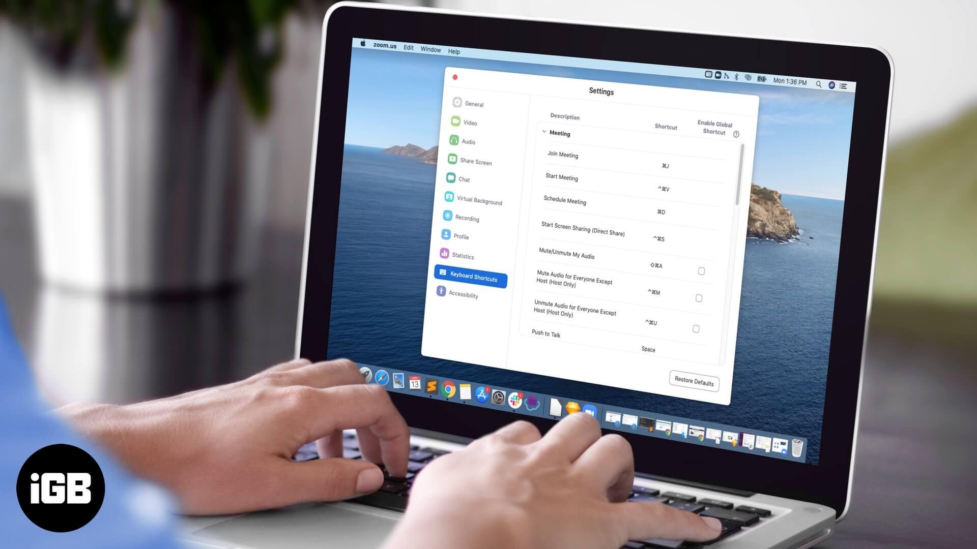 Zoom Keyboard Shortcuts for Mac