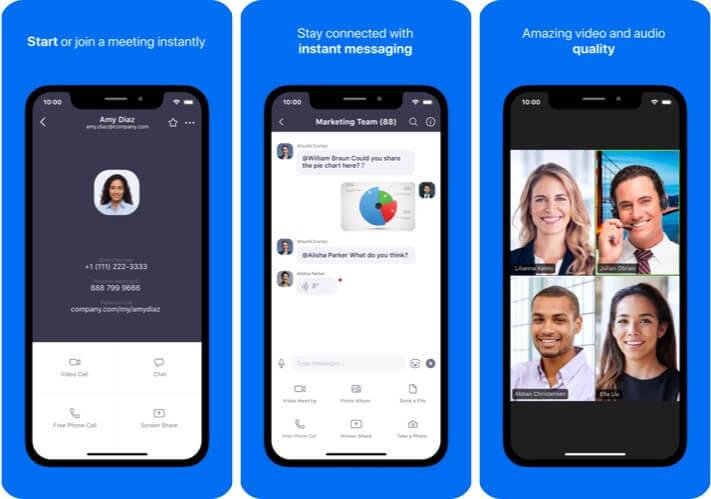 Zoom iPhone App Screenshot