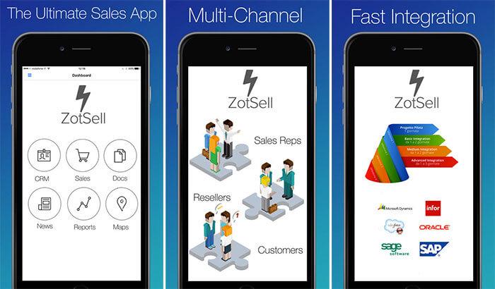 ZotSell B2B Orders iPad App Screenshot