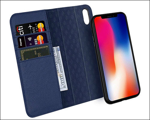 Zover Leather Wallet Case for iPhone Xs