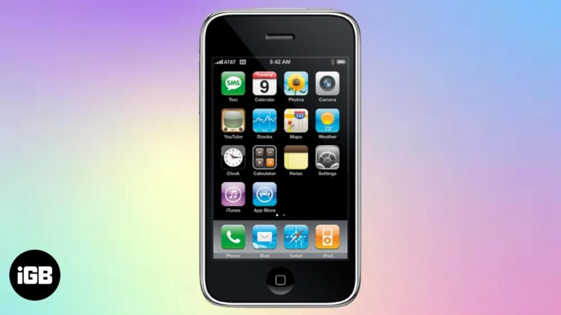 A Brief History of First iPhone