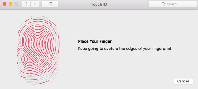 Add Fingerprints to Mac Touch Id