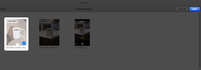 Add Photos in Slideshow on Mac