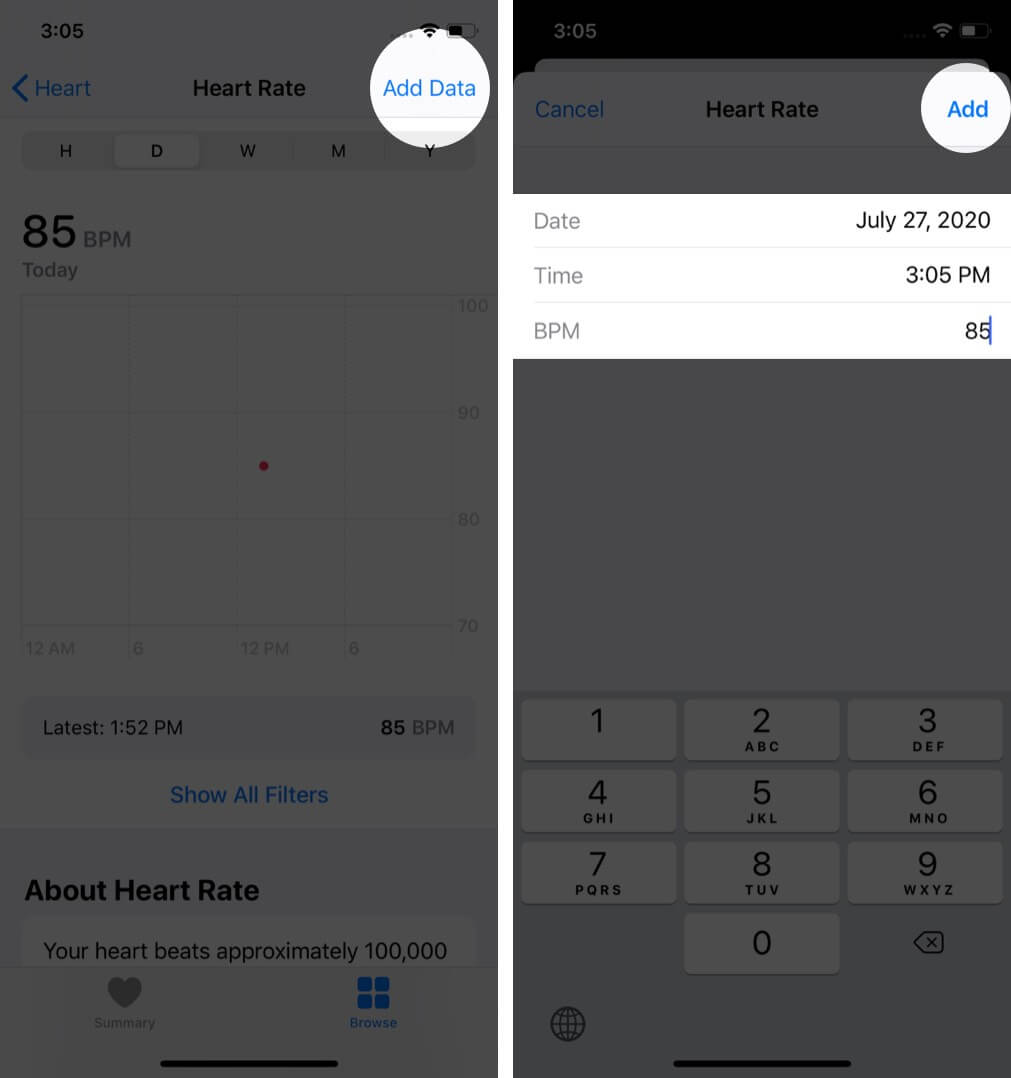add your health information to health app on iphone