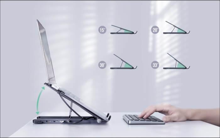 Adjustable Angles of UGREEN X-Kit Hub Stand